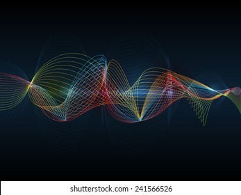 Illustration Abstract futuristic wave-digital  technology concept vector background