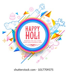 illustration of abstract Happy Holi Background  for Festival of Colors celebration greetings