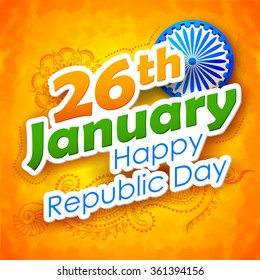 illustration of abstract Indian Republic Day background