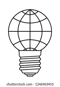 Illustration of the abstract light bulb globe
