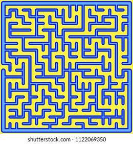 Illustration of the abstract maze design