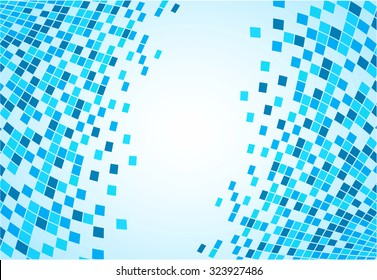 illustration of abstract tiles blue background concept