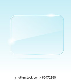 Illustration abstract transparent glass banner - vector