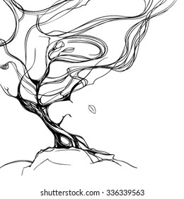 illustration of abstract tree