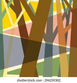 Illustration abstract tree background