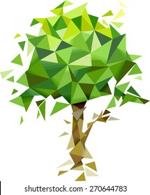 Illustration of an Abstract Tree with a Geometric Design
