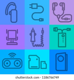 illustration of accessories icons for mobile phone devices