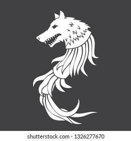 Illustration of acient dacian coat of arms. Dacia symbol