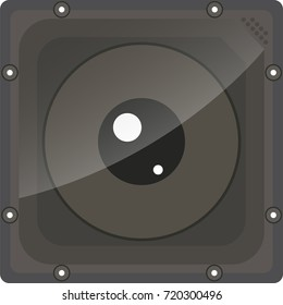 illustration of Action camera flat icon on white background vector