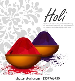 illustration of Advertisement Promotional Background for Festival of Colors celebration greetings with Happy Holi celebration ,Indian Festival of Colours - Vector