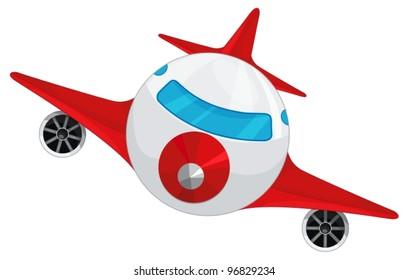 illustration of aeroplane on a white background