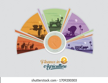 illustration of agriculture loan concept