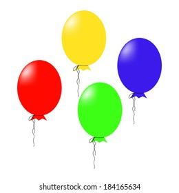 illustration of air balloons