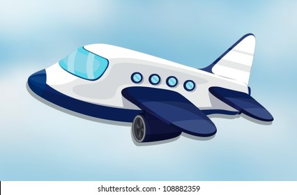 illustration of air plane on a white background