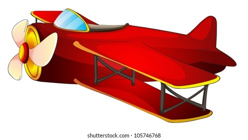 illustration of a aircraft on a white background