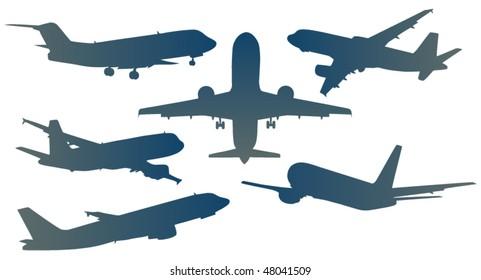 Illustration of airplanes