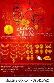 illustration of Akshaya Tritiya celebration jewellery Sale promotion