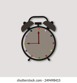 Illustration with alarm.