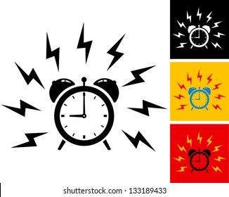 illustration of alarm clock ringing