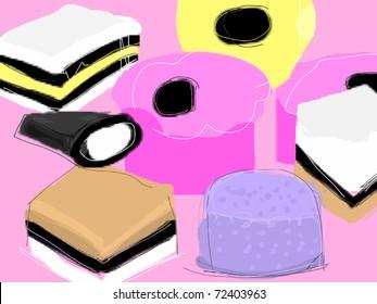 Illustration of Allsorts sweets