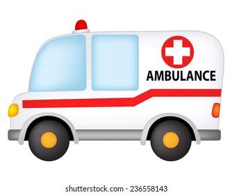 Illustration of a ambulance isolated on white background