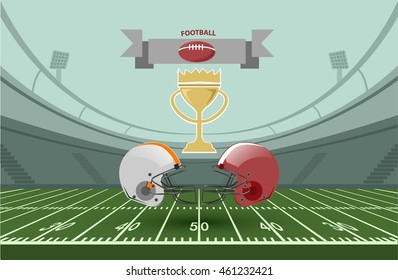 An illustration for an American football championship game. Vector EPS 10