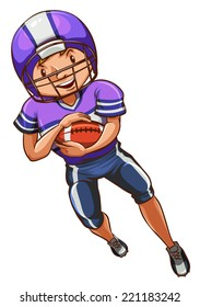 Illustration of an american football player