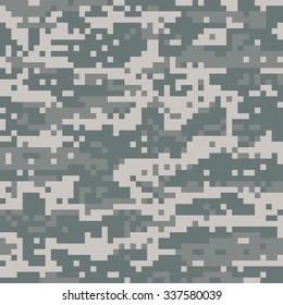 An illustration of American military digital desert camouflage. Vector EPS 10 available. Pattern is able to be tiled.