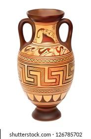 Illustration of Amphora over white background