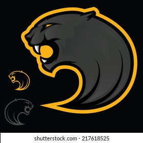 Illustration of an angry black panther/Vector Panther Mascot