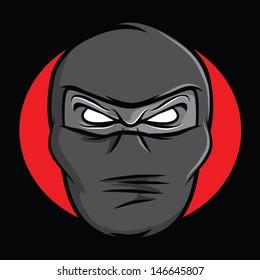 Illustration of an angry masked ninja