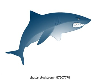 Illustration of an angry shark