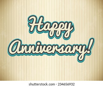 Illustration of an anniversary card