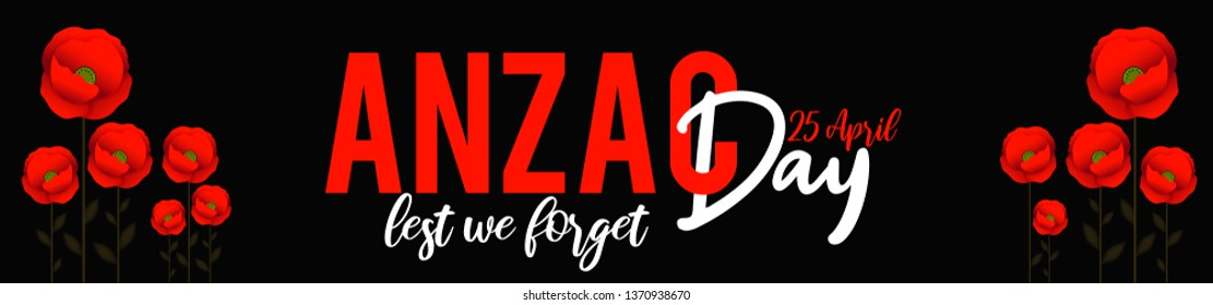 Illustration Of Anzac Day Poster or Banner Background.
