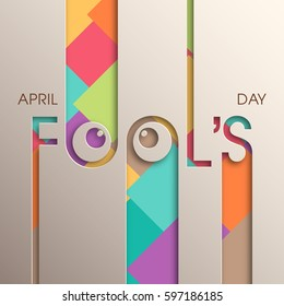 Illustration of April fool's day,first April vector.