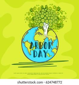 Illustration Of Arbor Day Background.