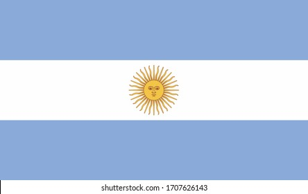 illustration of Argentina national flag