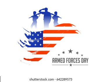Illustration Of Armed Forces Day.