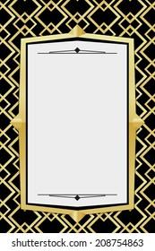 Illustration of art deco geometric. Style 7. Vector template