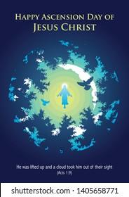 An illustration of the ascension of Jesus Christ
