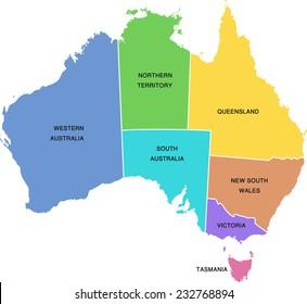 Illustration of Australia Map