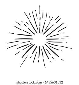 Illustration of Awesome Vintage Sunburst for Graphic Elements, Poster, Logo, & Others