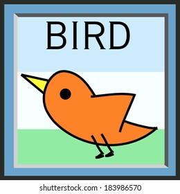 illustration baby bird cartoon vector file
