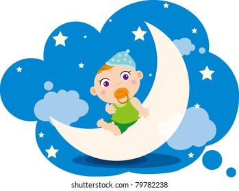 Illustration of Baby boy's dream