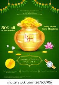 illustration of background for Akshaya Tritiya celebration