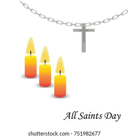 Illustration of a Background for All Saint day