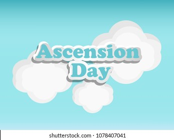 Illustration of background for Ascension Day