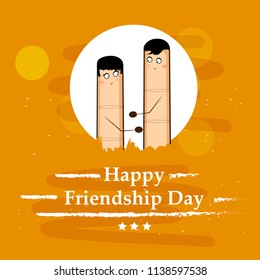 Illustration of background for Friendship Day