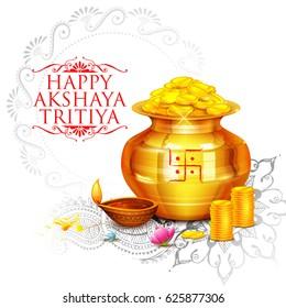 illustration of background for Happy Akshay Tritiya celebration