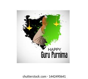 illustration of a Background for Happy Guru Purnima.